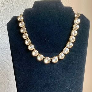 JCrew Gold Rhinestone necklace